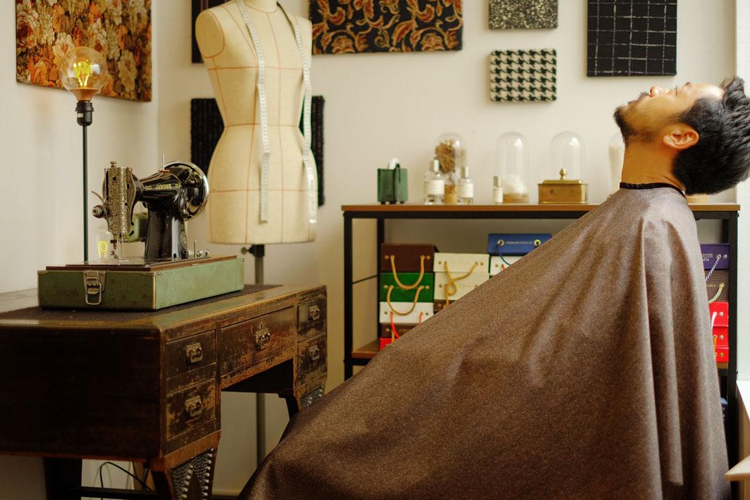 dada cloth Herrinbone / ダダクロス ヘリンボーンの着用イメージ