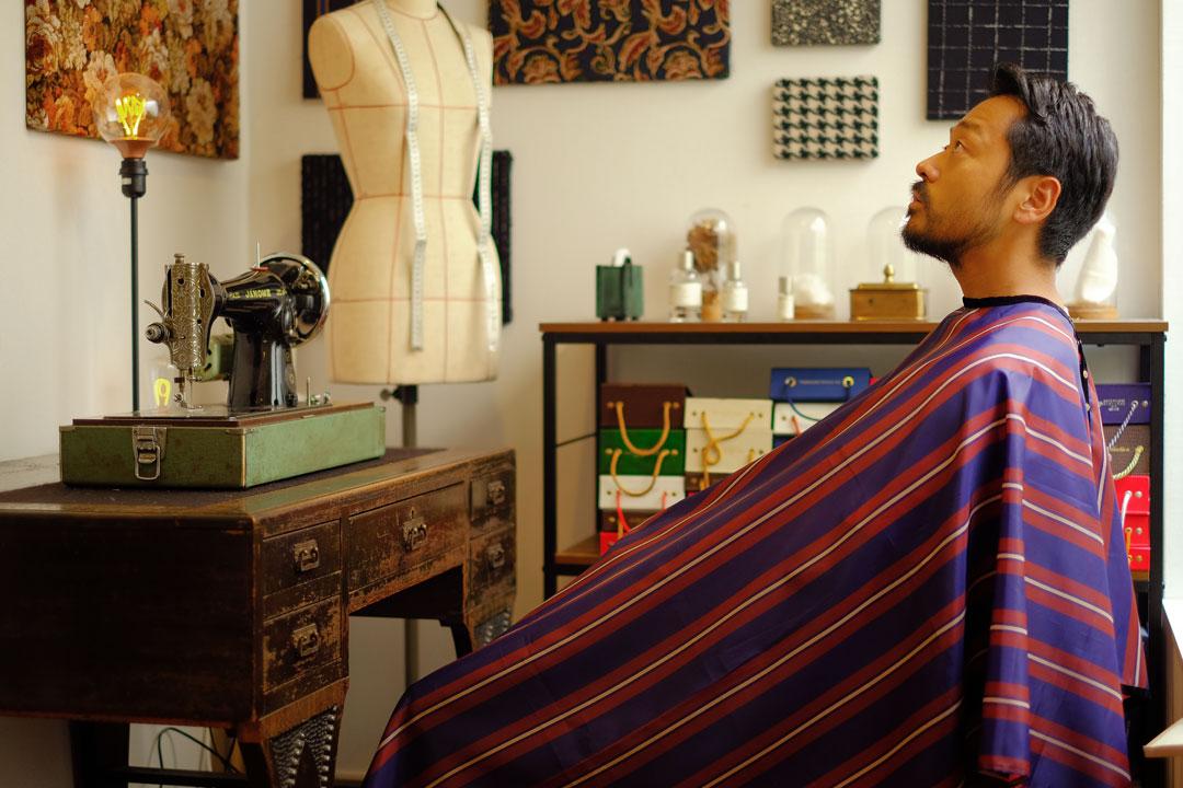 dada cloth Triple stripe / ダダクロス トリプルストライプの着用イメージ