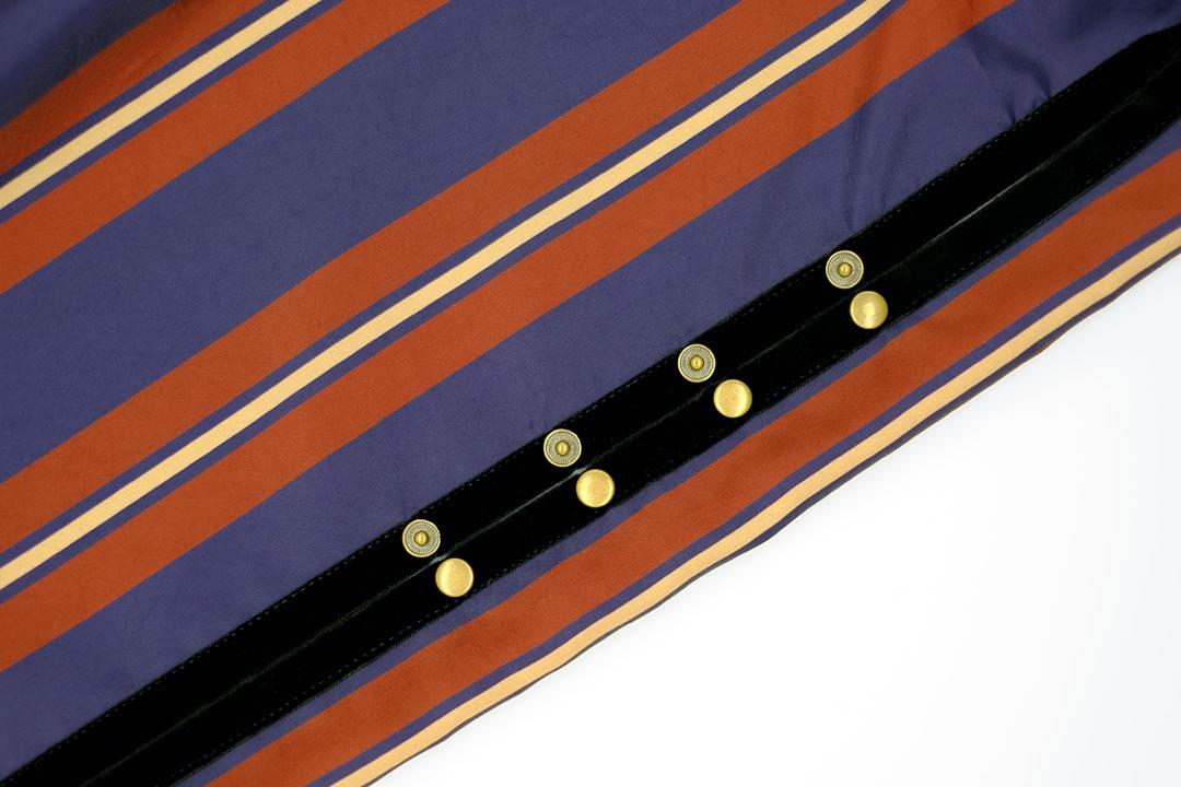 dada cloth Triple stripe / ダダクロス トリプルストライプのドットボタン